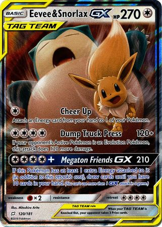 Eevee & Snorlax GX (Pokemon Sun & Moon Team Up)