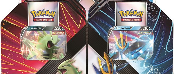 Pokemon Tin Kasse - 2021 Summer Wave 3 Begge V Strikers Collector's Tin Boxe: Empoleon & Tyranitar