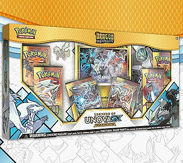 Pokemon Dragon Majesty - GX Box: Legends of Unova - 5 Boosters, 2 GX Promos & Oversize Promo
