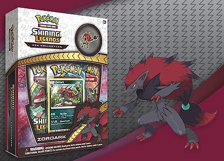 Pokemon Shining Legends - Pin Collection: Zoroark - 3 Boosters, Promo & Pin