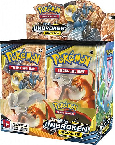 Pokemon Display (Booster Box) - Sun & Moon: Unbroken Bonds - 36 Boosters