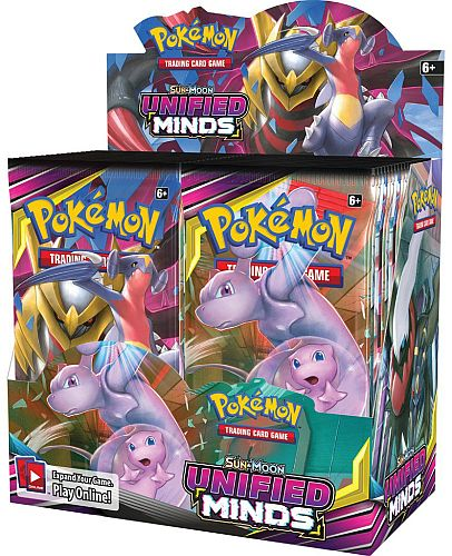 Pokemon Display (Booster Box) - Sun & Moon: Unified Minds - 36 Boosters