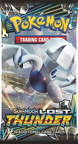 Pokemon Booster Pakke - SM08 - Sun & Moon: Lost Thunder Booster Pack *Sjælden*