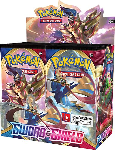 Pokemon Display (Booster Box) - SWSH01 - Sword & Shield: Base Set - 36 Boosters