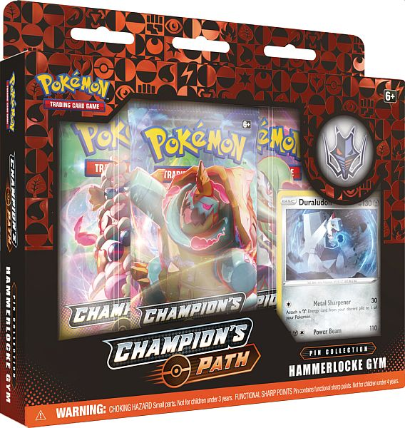 Pokemon Champion's Path - Pin Collection: Hammerlocke Gym - 3 Boosters, Promo & Pin