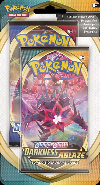 Pokemon Blister Pack - 2-Pack - Sword & Shield: 1 x Darkness Ablaze + 1 x Bonus Booster Pack! <b>*Ekstrem Lavpris!*</b>