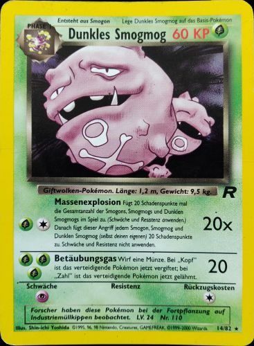 Dark Weezing (Dunkles Smogsmog) - German/Tysk (Team Rocket WoTC)