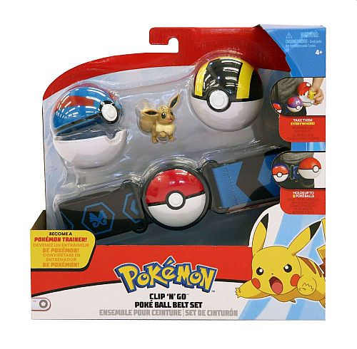 Pokémon - Clip 'N' Go Pokéball Belt - Wave 3: Eevee with Great Ball and Ultra Ball