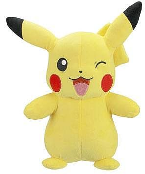 Pokemon - Pikachu (Winking) Plush/Bamse 30cm *Top Kvalitet*